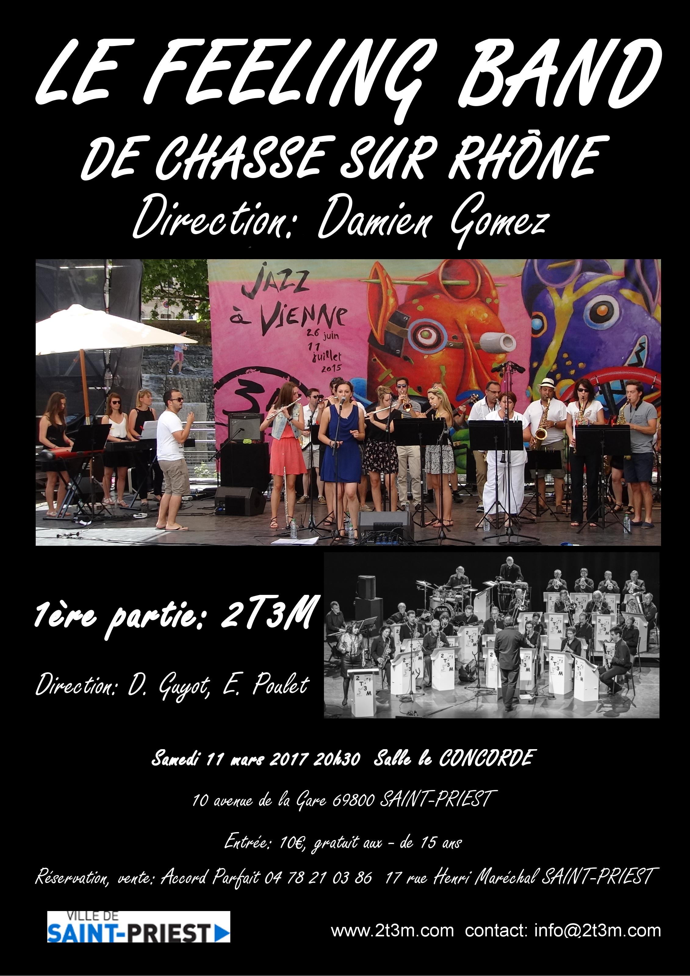 2T3M et le FEELING BAND de Chasse sur Rhône en concert